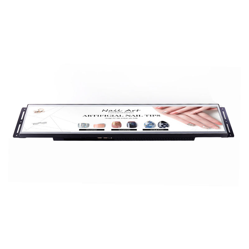 Battery Powered Stretched Bar Lcd Display , 24 Inch Shelf Lcd Display